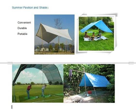 Tarpaulin for Summer Pavilion and Shade