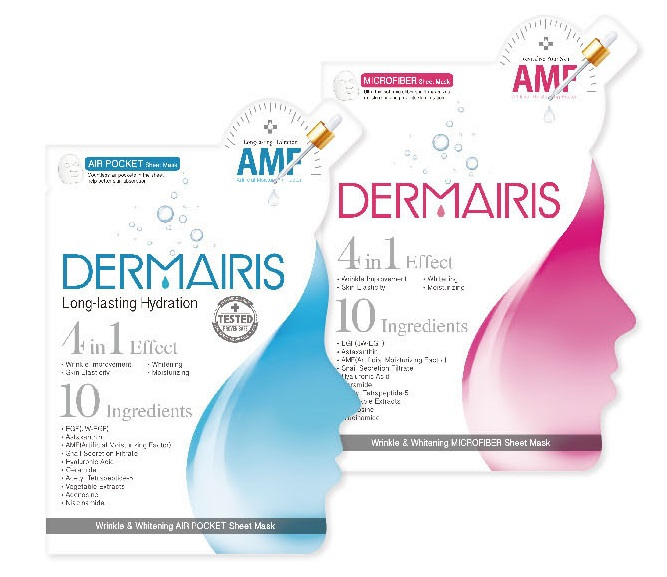 Dermairis Facial Mask Sheet 4 in 1 Effect with 10 ingredients