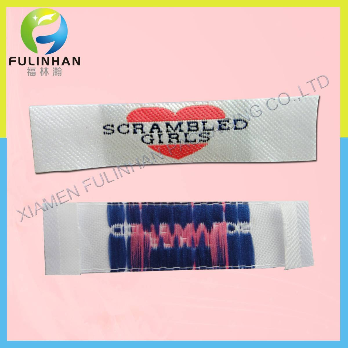 China Directly Factory Professional Customized woven label like main label/neck label with exquisite