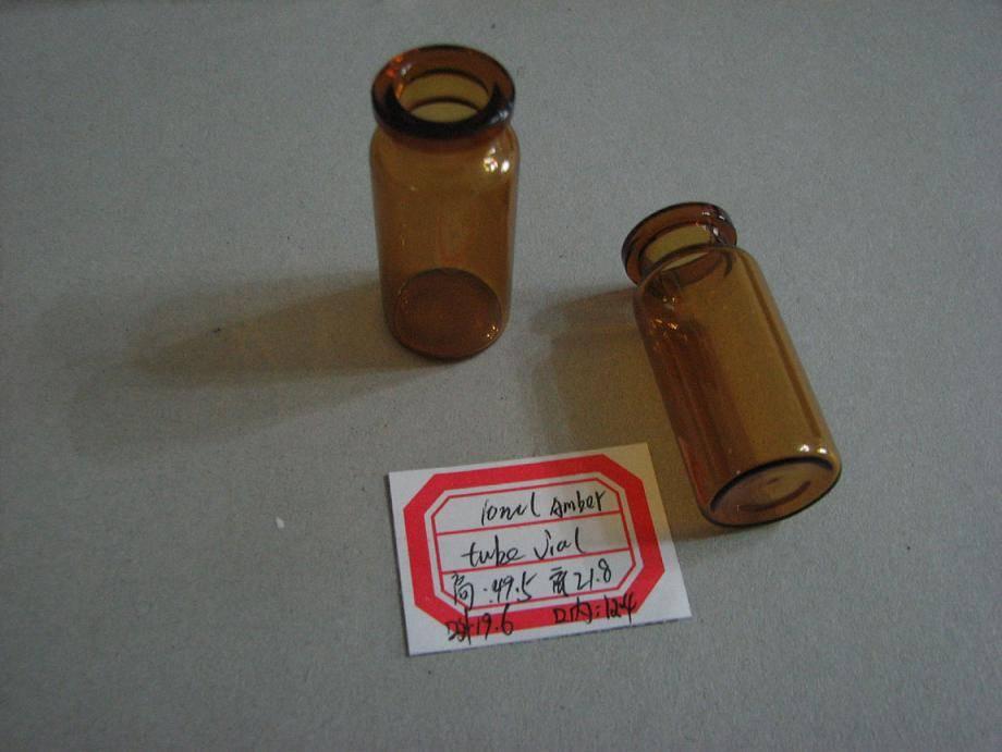 10ml amber tube vial