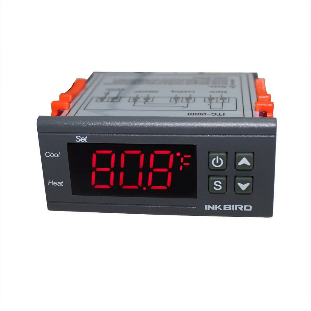 Inkbird 110V one Relay & one Alarm Output Digital Temperature Controller Degree F &C Thermostat w Se