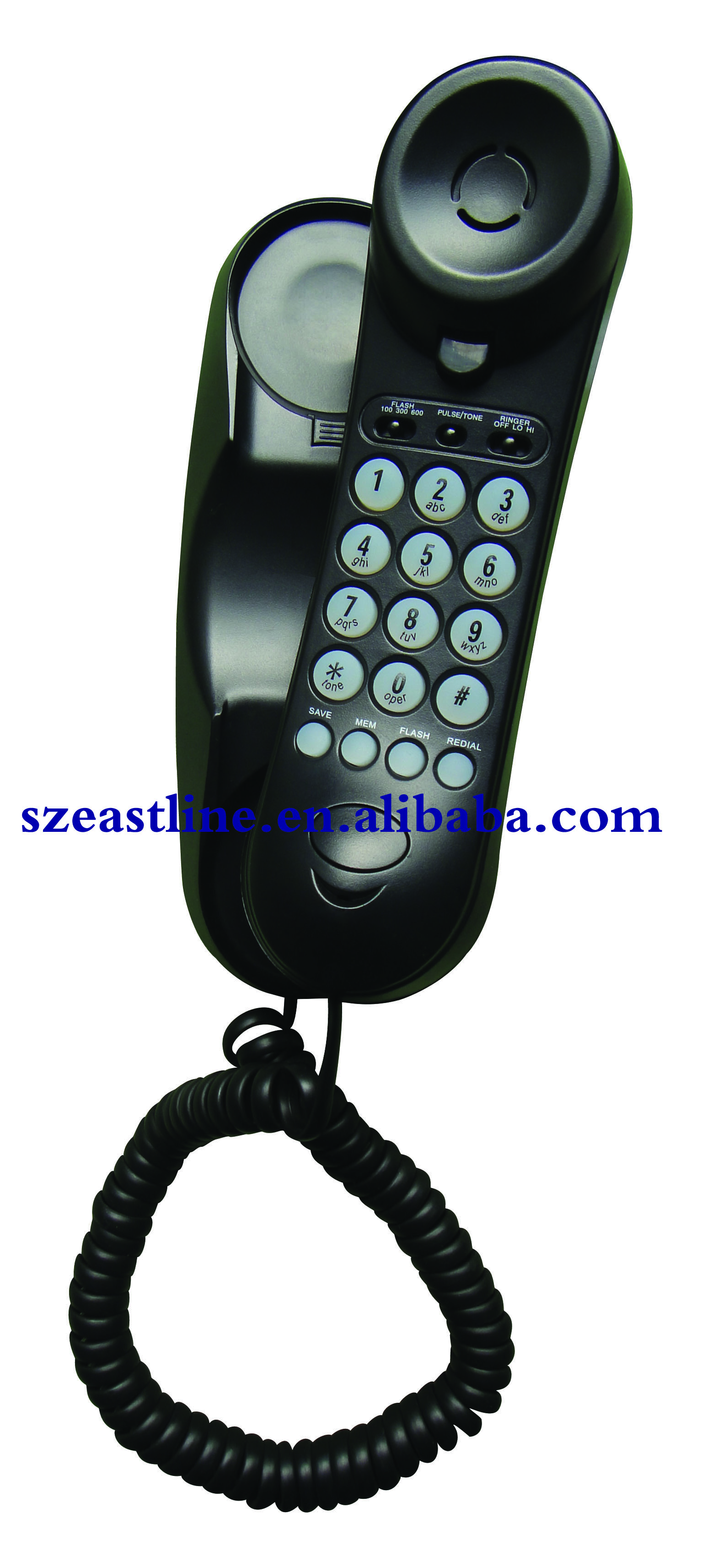 Analog Trim Line Phone Handset with Pulse / Tone Switch