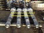 Pinion shaft of electric shovel