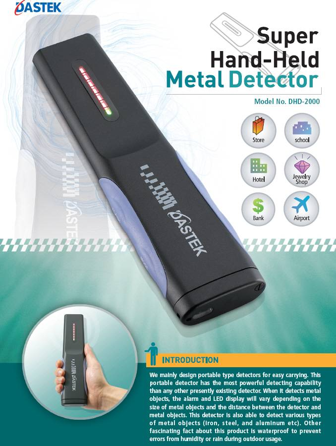 Super Hand-Held Metal Detector