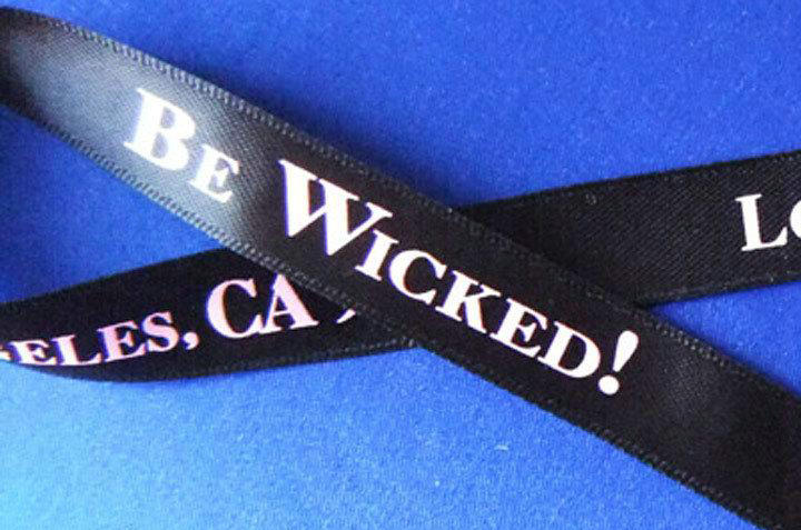 custom polyester printed satin ribbon with logo