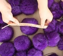 factory purple rabbit pom pom