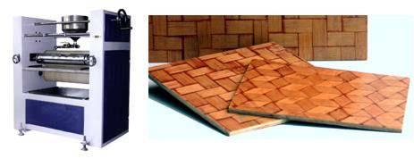 bamboo mat board veneer composites corrugated tile sheets making weaving laminating press machine