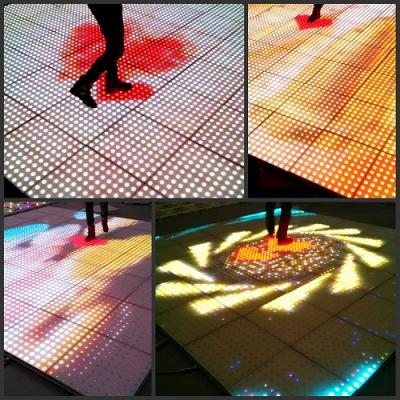 LED interactive sensor mutual video high pixel display screen dance floor lighting