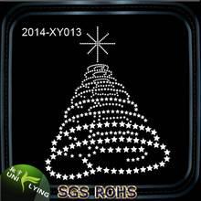 Hot fix transfer christmas tree rhinestone motif