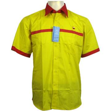Permanent Anti-Static Short Sleeve Shirts with Reflective Tape, Protective Clothing