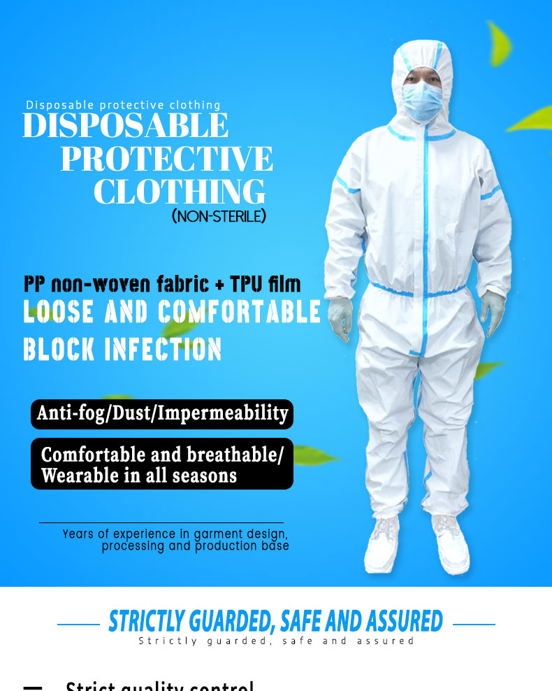 CE Certificate Factory Supply PPE Protective Clothing Disposable Coverall
