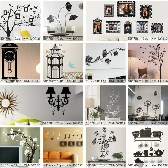 Noble Colorful Printed Home Decorative Wall Sticker