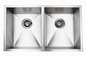 Undermount Right-Angled Double Bowl Sink