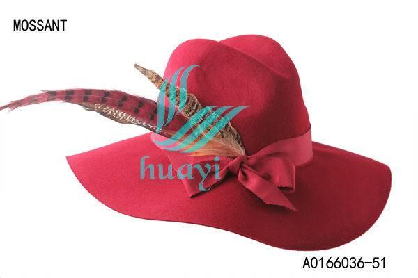 Fashion red wool felt floppy hat party hat
