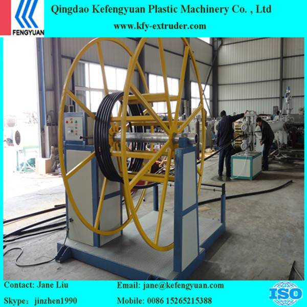 HDPE silicon treading pipe two layers hdpe pipe making machine
