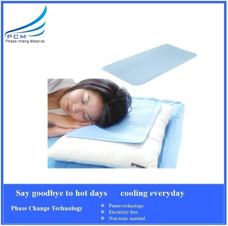 PCM cool comfort pillow for hot summer