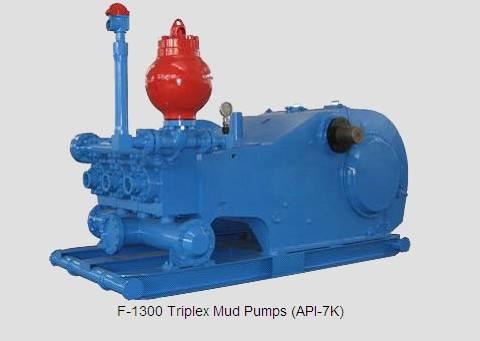 Shine offers F500/800/1000/1300/1600 & W446 triplex mud pump