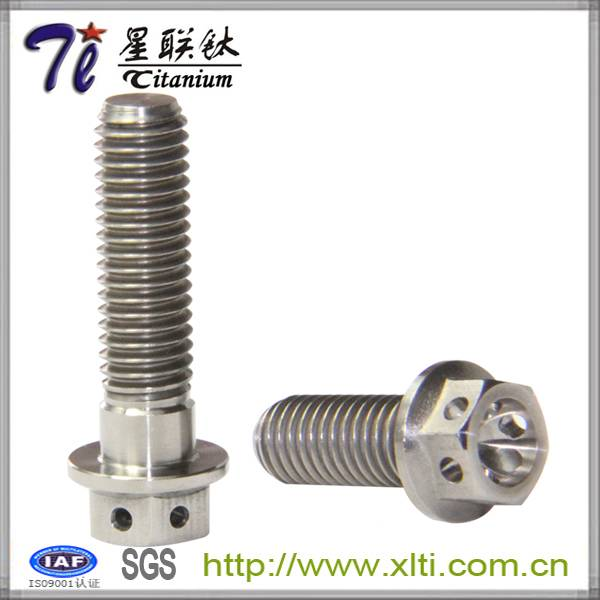The Driectly Factory Stock M8X1.25x20 Titanium Hex Flange Bolts w/6 Holes