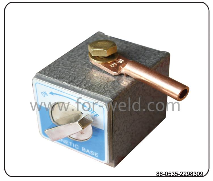 TOPWELD Magnetic ground dish with switch for welder