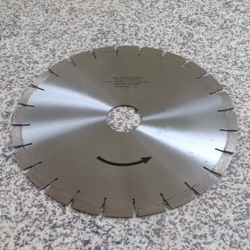 Diamond Saw Blade 14-inch (350mm) Silent Core Cutting Disc for Granite Inner Hole 50/60mm Segment