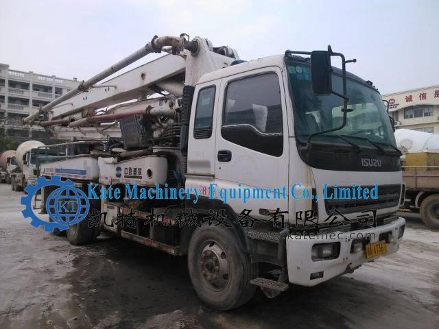 Second hand Isuzu truck mounted concrete pump 37m