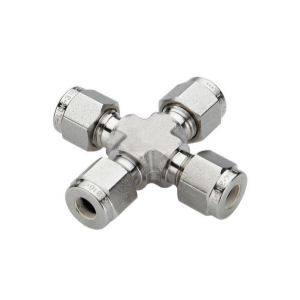 SS316 union cross,double ferrules,1/2OD,16Mpa