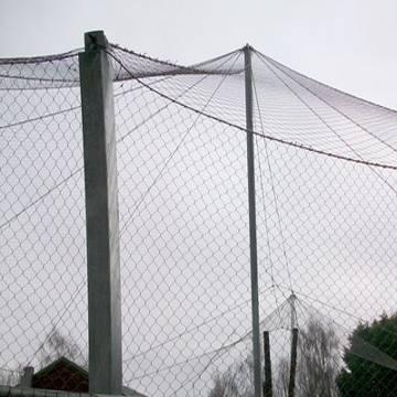bird netting,rope mesh,animal enclosure,zoo mesh