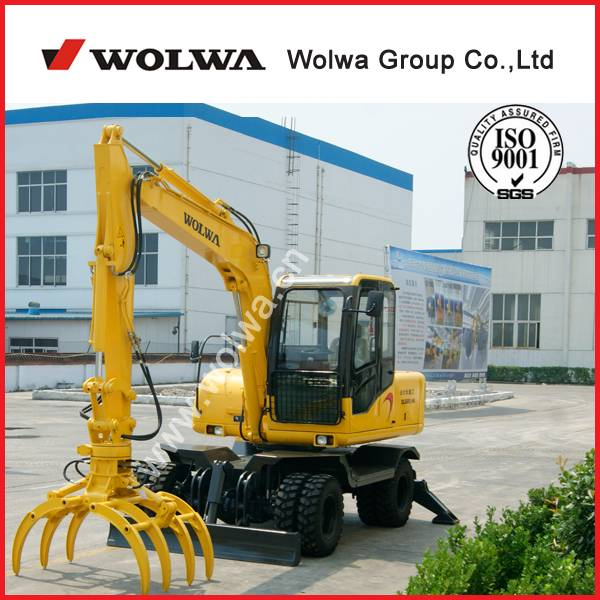 small excavator is used for carry wood