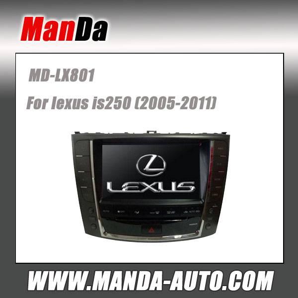 Manda car dvd gps for lexus is250 2005-2011 factory audio in-dash dvd navigation auto parts