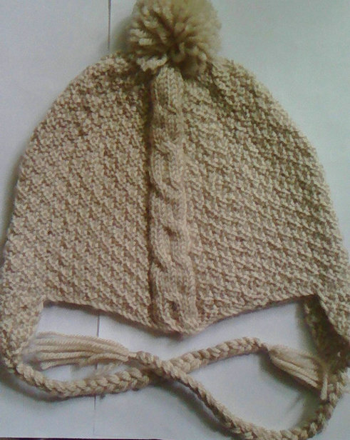 handmade knit cable beanie