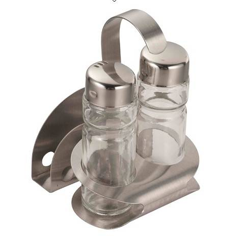 sell Two-Piece Glass Condiment Set with Napkin Holder FYCD-17
