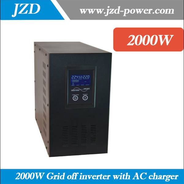 Solar Grid off Inverter 2000W 24VDC to 220VAC 50HZ dc to ac Inverter with Pure sine Wave low Frenque