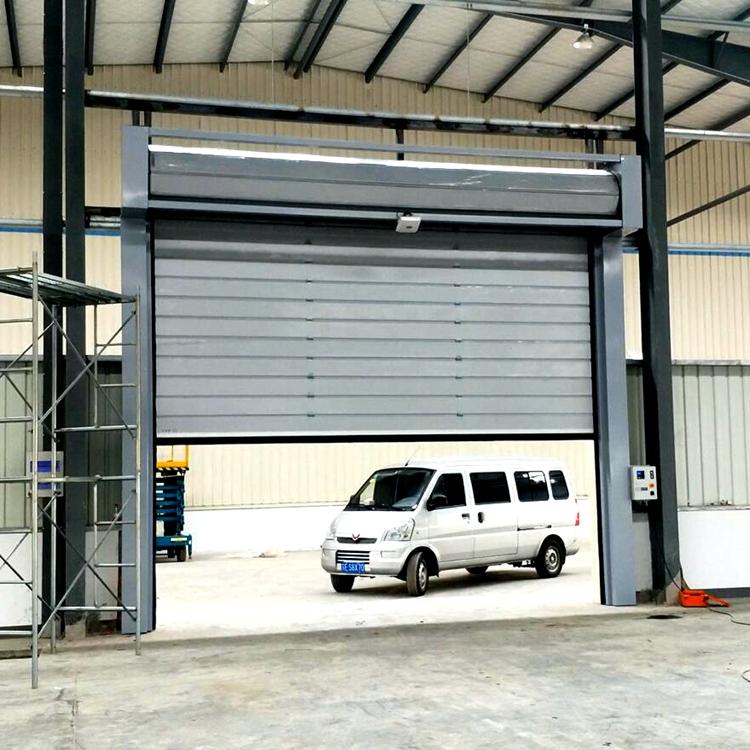 Fire station Overhead High Speed Roll up Garage Door