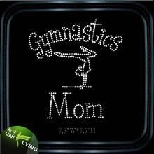Custom gymnastics mom rhinestone transfer for gym tank top