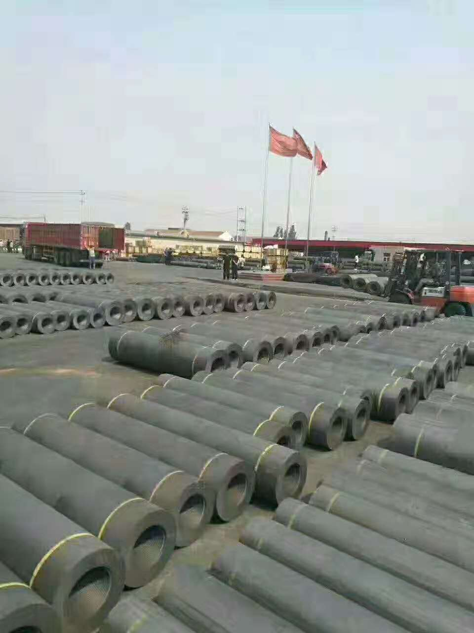 High quality graphite electrode for steel.
