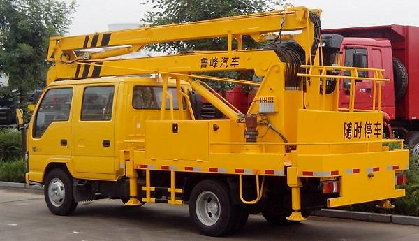 LUFENG ST5050JGKH 14m Overhead Working Truck/aerial platform vehicle/hydraulic aerial cage/tail-lift