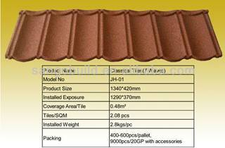 stone coated metal roof tiles hot sale from chinese factory