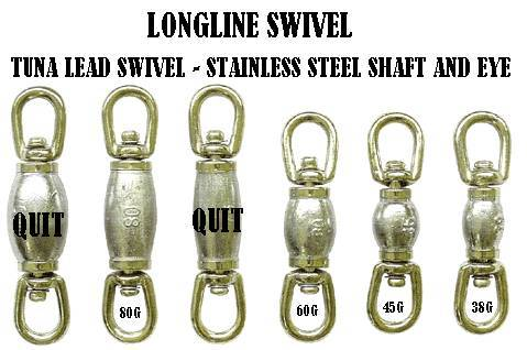 Tuna leaded barrel swivel