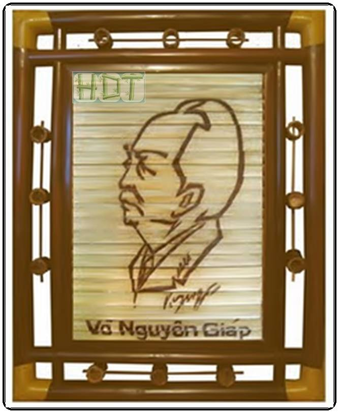 Shaving Smoked Bamboo Painting Portraits (General Vo Nguyen Giap Artwork)_ This Is Not Painted