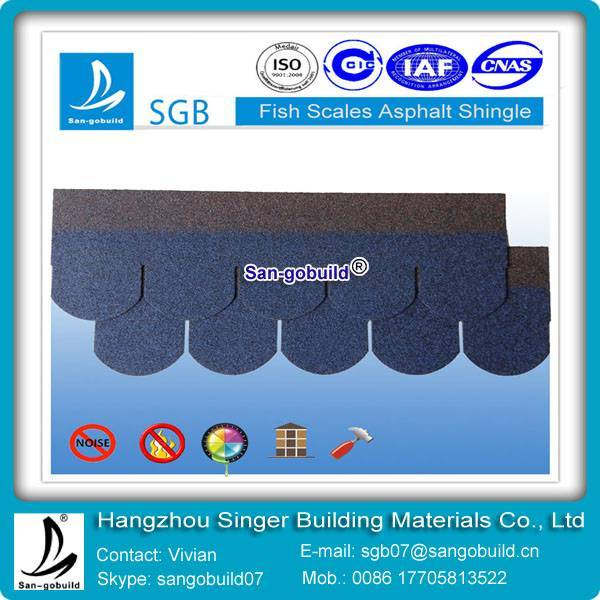 high quality fish-scale asphalt shingles price from china