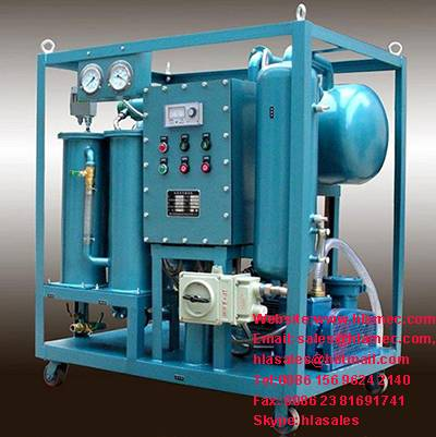 Double Stages Vacuum Transformer Oil Purification Plant