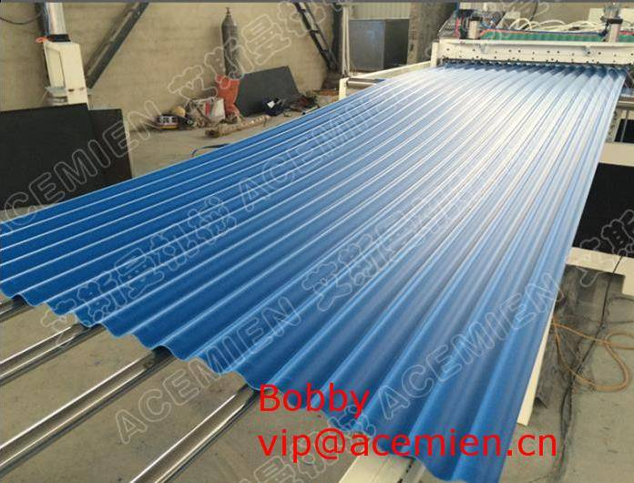 1130mm PVC Corrugated tile extrusion machinery-For Roofing