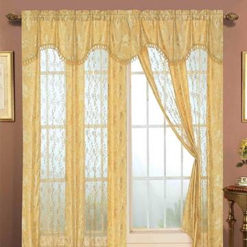 Embroidered Curtain Lace Fabric Sheer Embroidered Curtain Panel