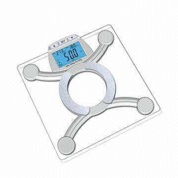 Electronic Body Fat Scale with Large Blue Backlight LCD, 4 x AAA Batteries