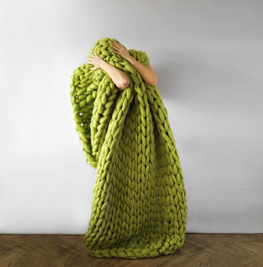 100% Merino Wool Super Chunky Yarn For Arm Knitting