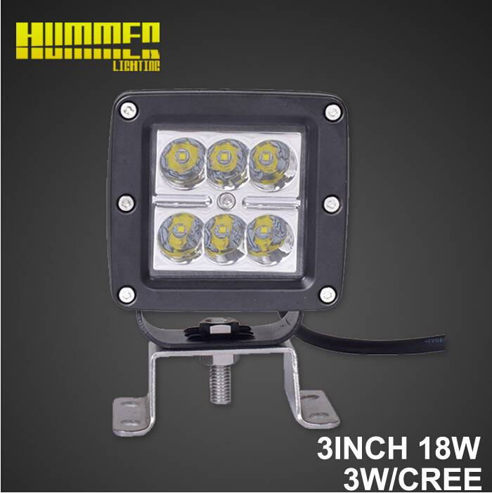 Hot sale and popular in Alibaba, 3inch 18W Spot beam off road led work light for Jeep Wrangler