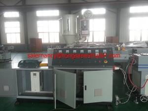 Single wall corrugated plastic pipe extrusion machine