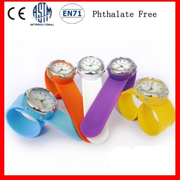 Promotional Gift Silicone Slap Watch