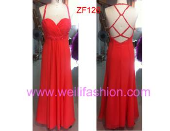 Long Applique Beading Chiffon Evening Dresses ZF126