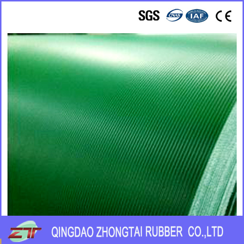 Slant stripe rubber sheet